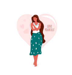 love yourself smiling woman vector image