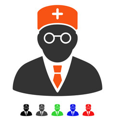 Main physician flat icon vector