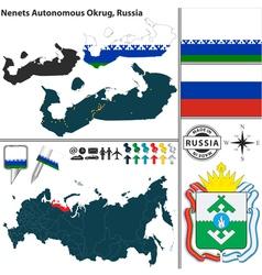 Map of Autonomous Okrug Nenets vector