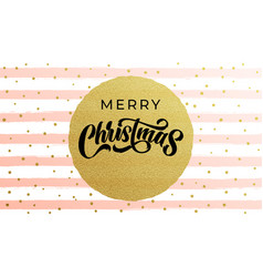 merry christmas calligraphy lettering with golf vector image