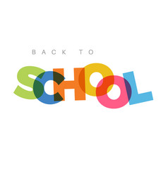 Minimalist back to school banner vector