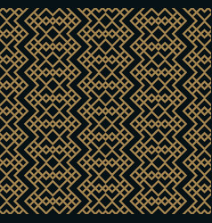 Modern geometric tiles pattern golden lined vector
