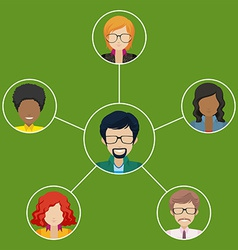 Network of businessminded people vector image
