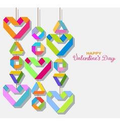 paper origami Valentine vector image