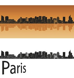 Paris V2 skyline in orange vector image
