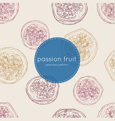 Passion fruit seamless pattern vector