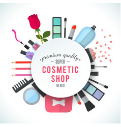 Professional quality cosmetics shop stylish vector