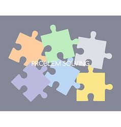 puzzle problem solve vector image