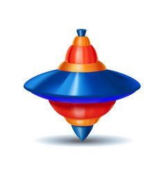 Realistic detailed 3d humming whirligig toy vector