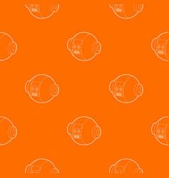 Robotic ball pattern orange vector