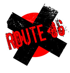 Route 66 rubber stamp vector