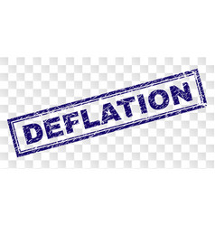 Scratched deflation rectangle stamp vector