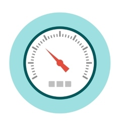 Speedometer icon flat vector image