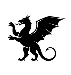 Standing dragon silhouette vector