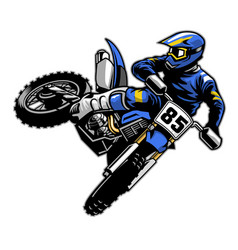 tail whipping motocross vector image