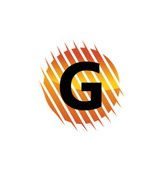 Technology letter g vector