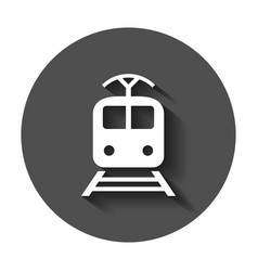 train transportation icon with long shadow vector image