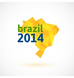 Triangle texture Brazil map vector