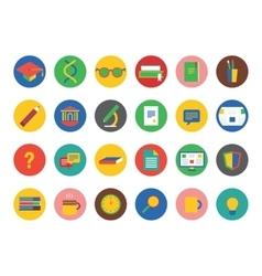 University icons set Education students vector