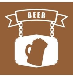 Beer glass sign hanging banner vector