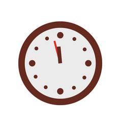 christmas clock show few minutes to twelve vector image vector image