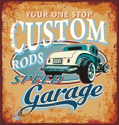 classic custom rod vector image vector image