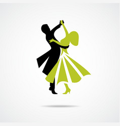 Dancing couple isolated on a white background vector image vector image