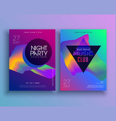 template for music concept flyer design vector image vector image