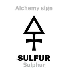 alchemy sulfur sulphur vector image vector image