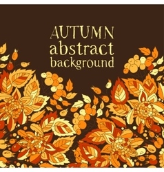 Autumn abstract background Template for design of vector image vector image