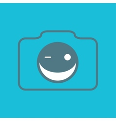 Camera smile vector image