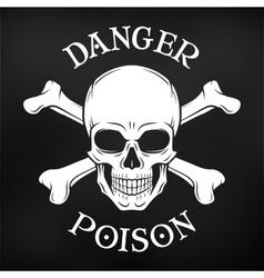Danger skull on black background Jolly vector image vector image