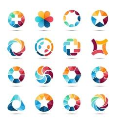 Logo set circle signs and symbols vector