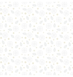 White floral texture with small ditsy flowers vector image