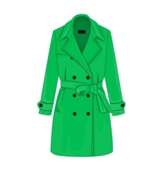 Womens coat with a belt vector