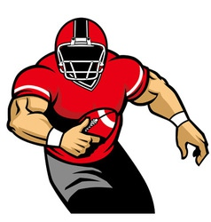 american football player run vector image