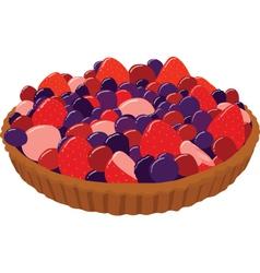 Fresh Berry Tarts vector image vector image