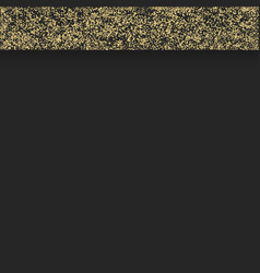 gold border on black vector image vector image