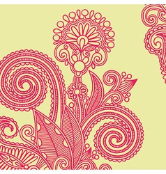 hand draw ornate flower design element vector image vector image