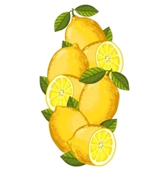 Lemon isolated composition vector image vector image