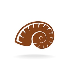 shell silhouette Snail home vector image vector image