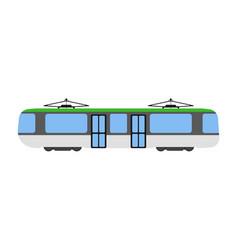 tram flat icon and logo cartoon vector image