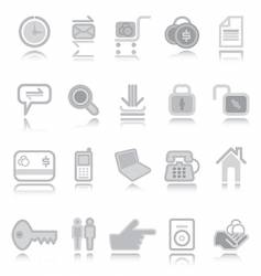 web icons silver vector image