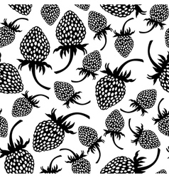 wild strawberry pattern vector image