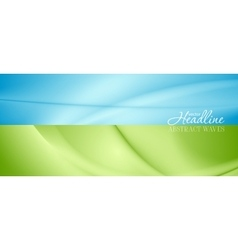 Abstract bright banners with soft waves vector image vector image