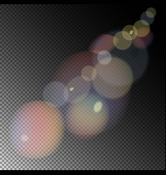 colored sunlight lens flare vector image vector image