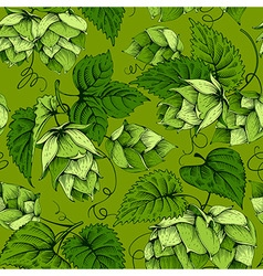 Hops seamless pattern vector image vector image