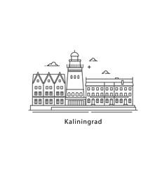 kaliningrad logo isolated on white background vector image vector image