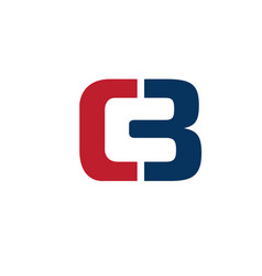 letter cb symbol vector image vector image