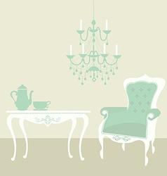 living room vintage vector image